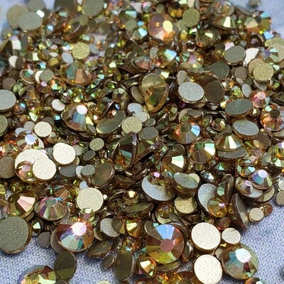 Sunny Gold - KiraKira Glass Rhinestones by CrystalNinja