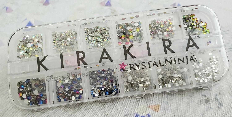 KiraKira Assortment 1740pc. Box5: Clear AB, Starry AB, and Multi colored Mix