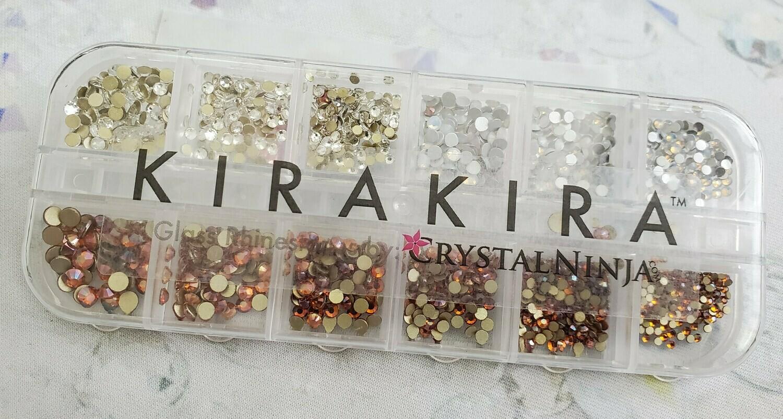 KiraKira Assortment 1440pc., Clear, White Opal and Amber