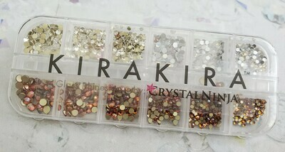 KiraKira Assortment 1440pc., Clear, White Opal and Amber