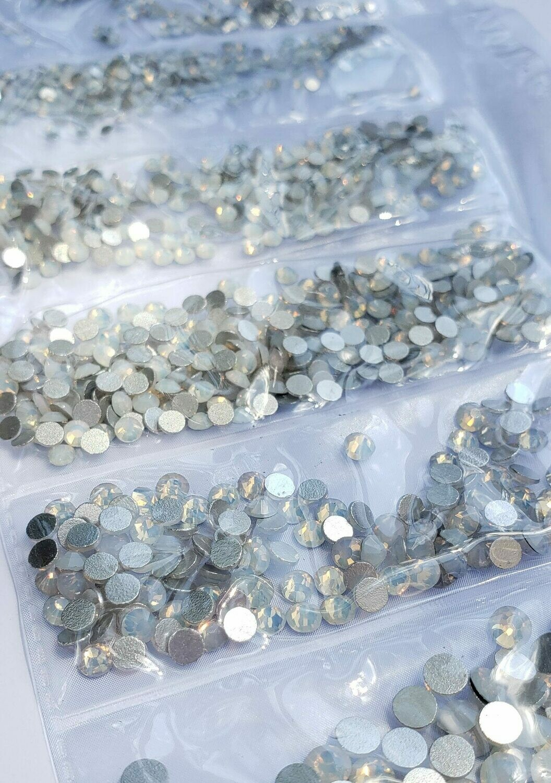 White Opal Variety- KiraKira Glass Rhinestones by CrystalNinja