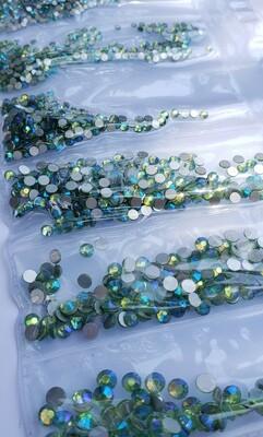 Peridot AB Variety- KiraKira Glass Rhinestones by CrystalNinja