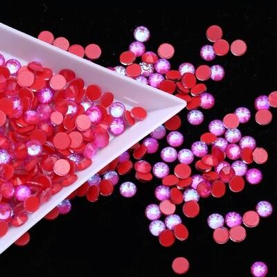 Mocca Red  AB - KiraKira Glass Rhinestones by CrystalNinja