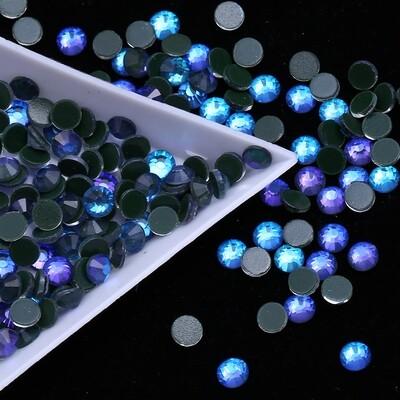 Mocca Blue Purple AB - KiraKira Glass Rhinestones by CrystalNinja