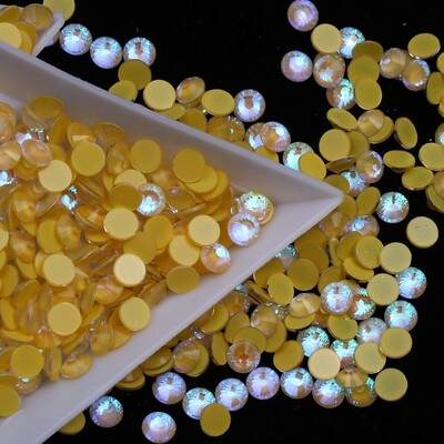 Mocca Yellow - KiraKira Glass Rhinestones by CrystalNinja