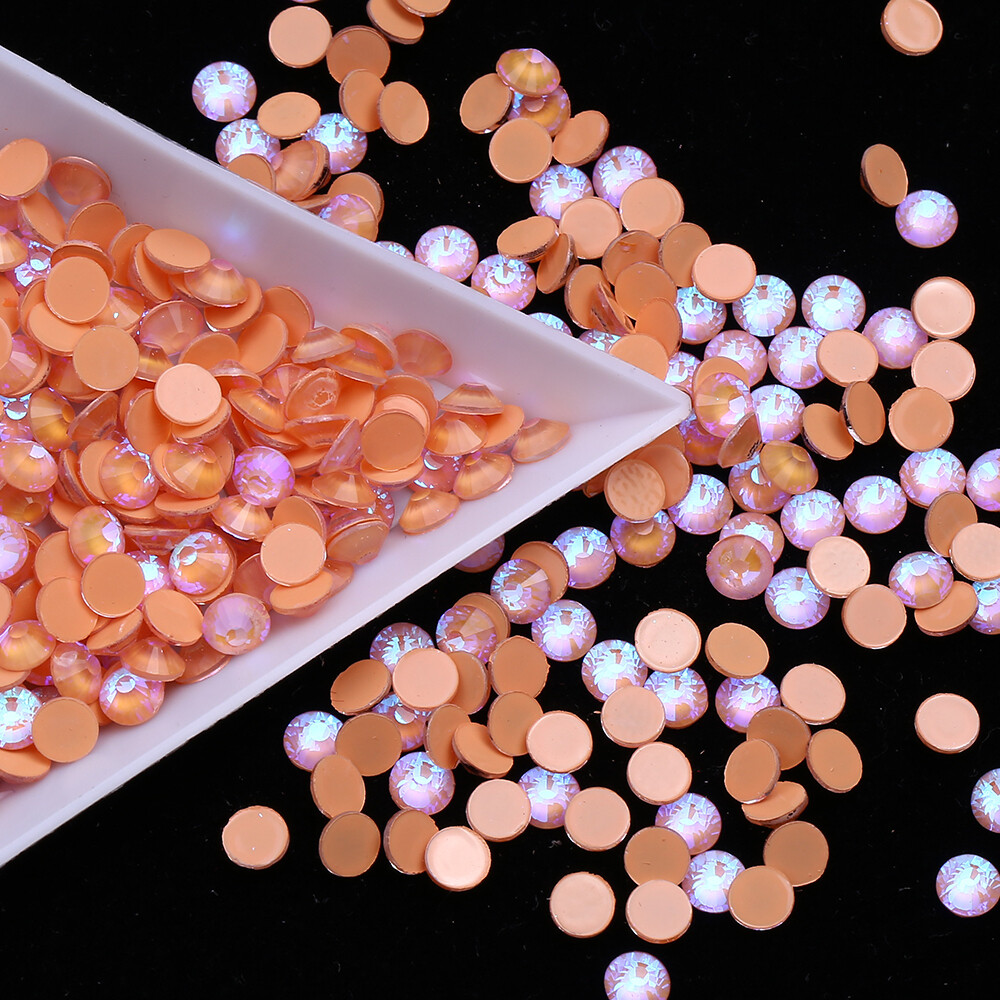 Mocca Orange AB - KiraKira Glass Rhinestones by CrystalNinja