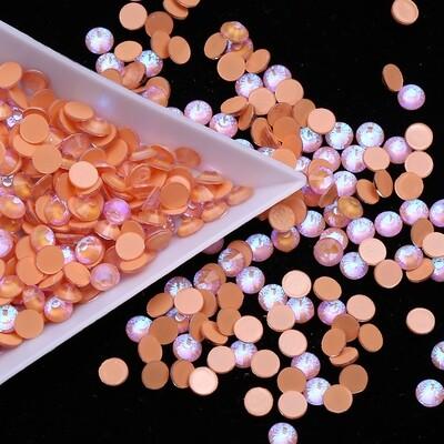 Mocca Orange AB - KiraKira Glass Rhinestones by CrystalNinja