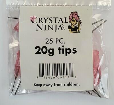 20ga, 25pc Bulk Syringe Tips