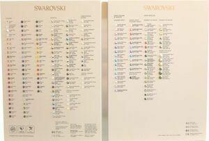 Swarovski 2088 XIRIUS Color Chart