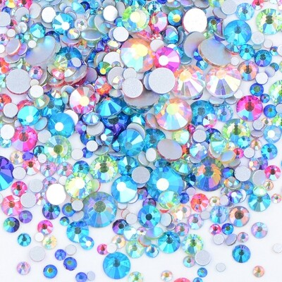 AB COLOR MIX Aurora Borealis - KiraKira Glass Rhinestones by CrystalNinja