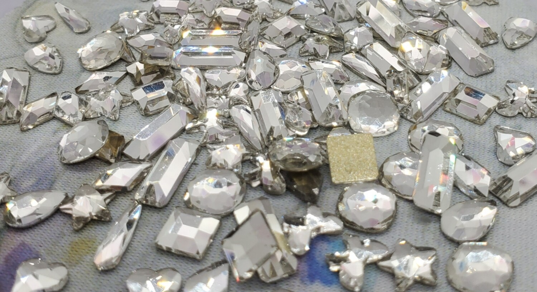 SHAPES MIX - KiraKira Glass Rhinestones by CrystalNinja