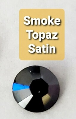 #2028 ss6 1440pc. Smoke Topaz Satin HotFix