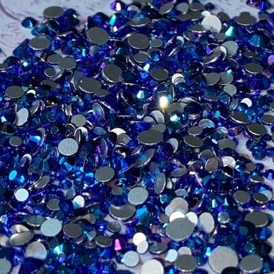 Sapphire AB- KiraKira Glass Rhinestones by CrystalNinja