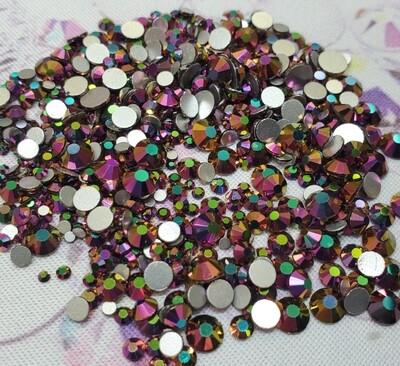 Rainbow Rose - KiraKira Glass Rhinestones by CrystalNinja