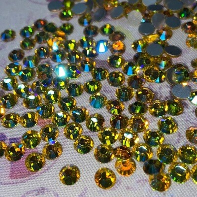 Citrine AB - KiraKira Glass Rhinestones by CrystalNinja