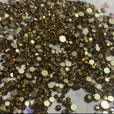 Metallic Gold - KiraKira Glass Rhinestones by CrystalNinja