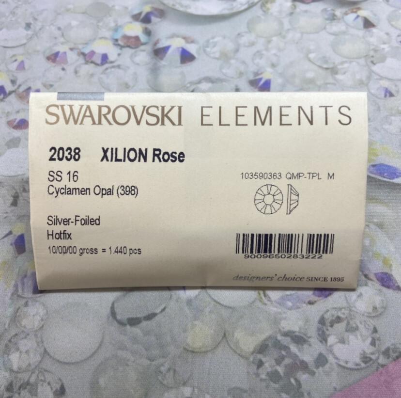 #2038 ss 16 1440pc. Cyclamen Opal Swarovski Foiled