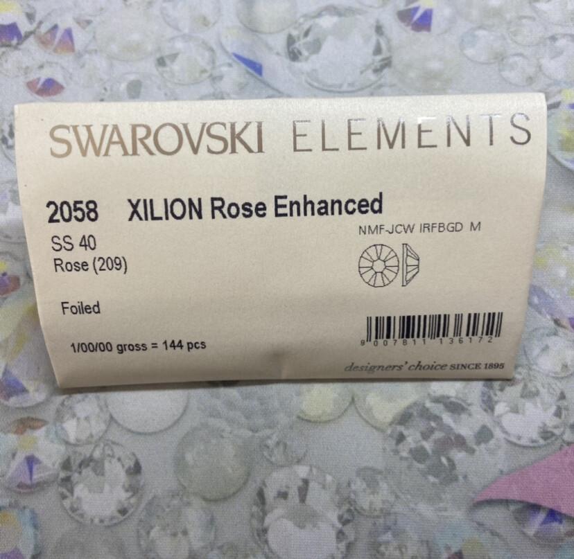 #2058 ss 40 1440pc. Rose Swarovski Foiled