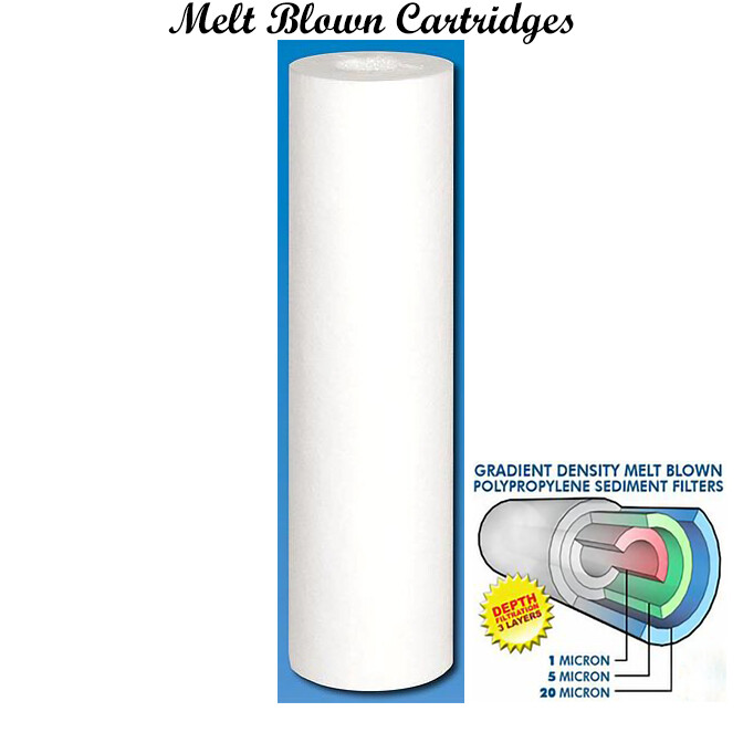 """Whole-House 2.5""""x10"""" Filter Cartridge 6 pack"""