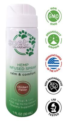 Chicken Flavor Hemp-Derived CBD Oil 1 oz Spray