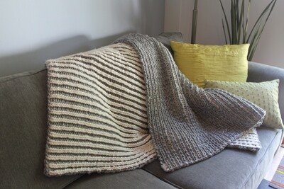Chrysalis Brioche Blanket