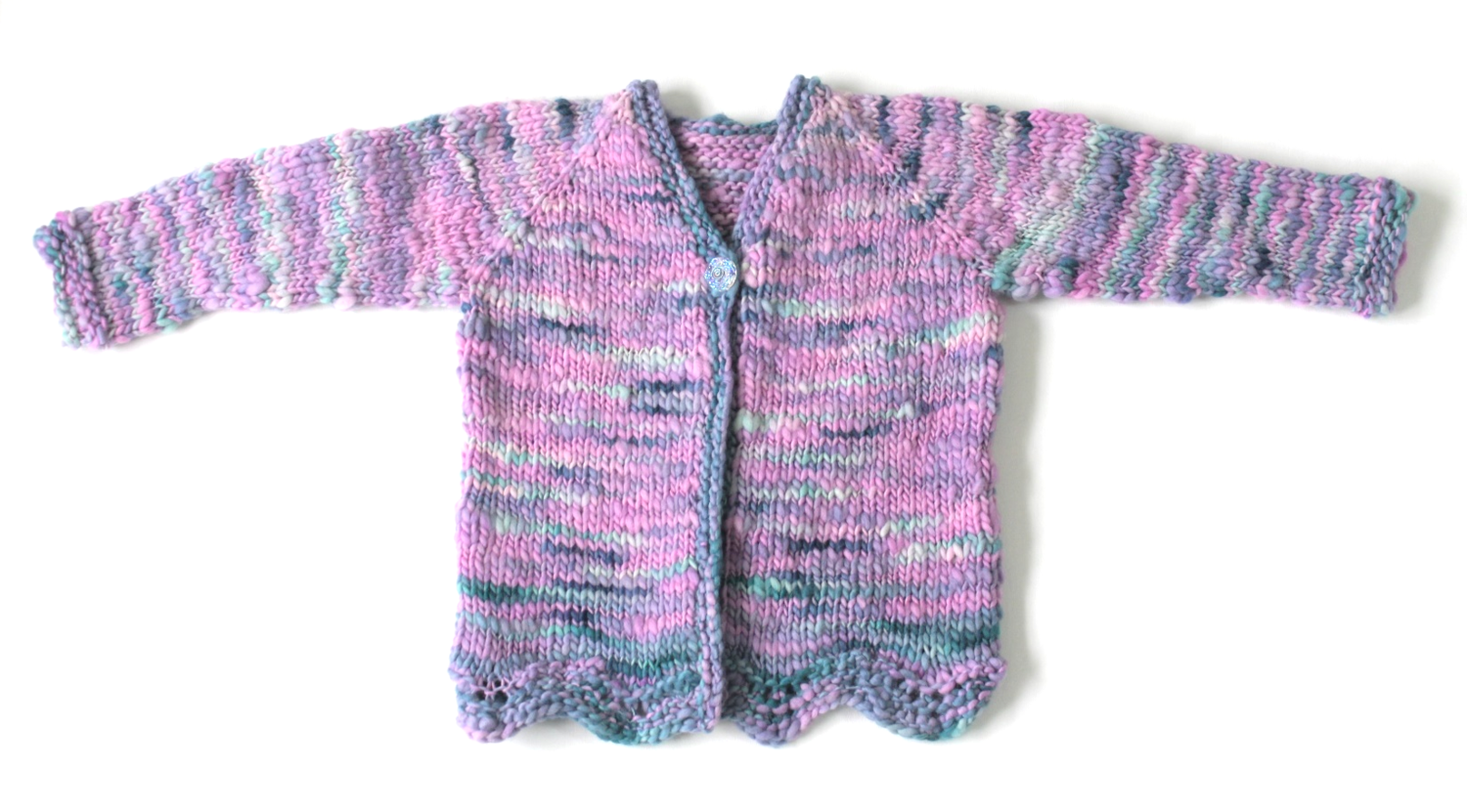 Mermaid Cardigan SAMPLE - size 4 child sweater