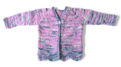 Mermaid Cardigan SAMPLE - size 4 child sweater