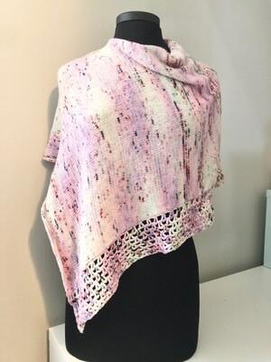 Wrap sample in hand dyed merino wool