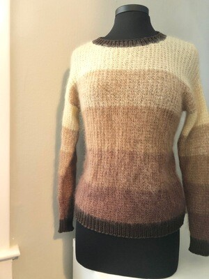 Adult mohair faded sweater in size small/medium