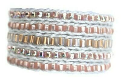 LuLi Bracelet Kit - OPAL (rose gold, pink, and gray)