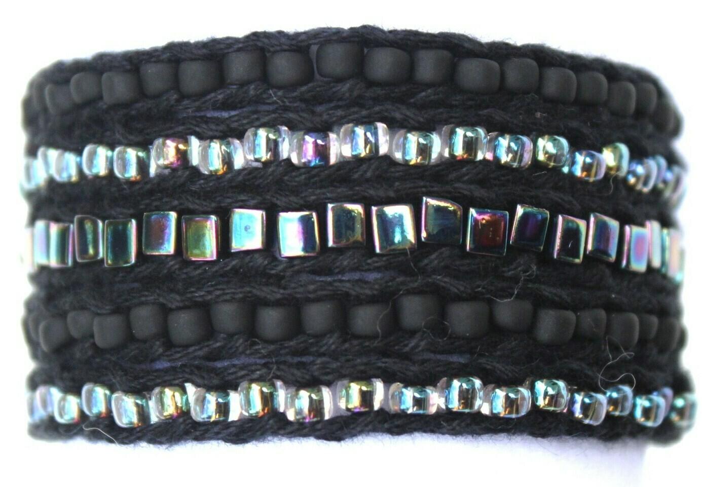 LuLi Bracelet Kit - Titanium (black with iridescent rainbow)