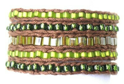 LuLi Bracelet Kit - Enchanted Forest (brown with green)