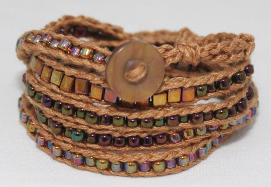 LuLi Bracelet Kit - AMBER (amber and iridescent copper and rainbow)