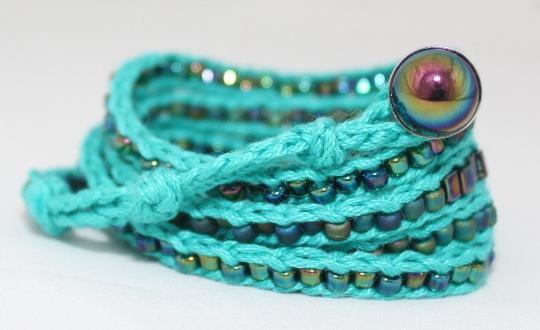 LuLi Bracelet Kit - JADE (turquoise and iridescent blue)