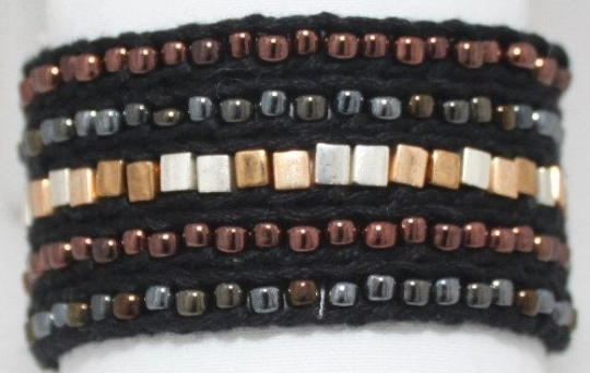 LuLi Bracelet Kit - HEAVY METAL (black with gold, pewter, and copper)