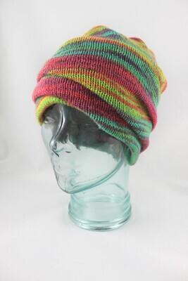 """Magic Hat"" in Neon Rainbow stripes"
