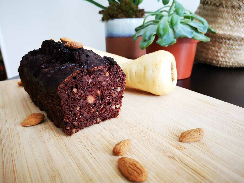 Kit de préparation de cake choco-noisette au panais
