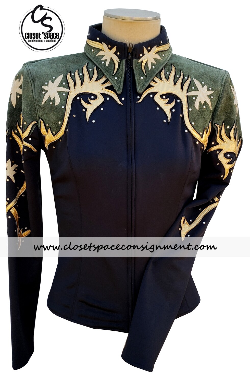 'Two Creeks' Black, Gold & Green Jacket