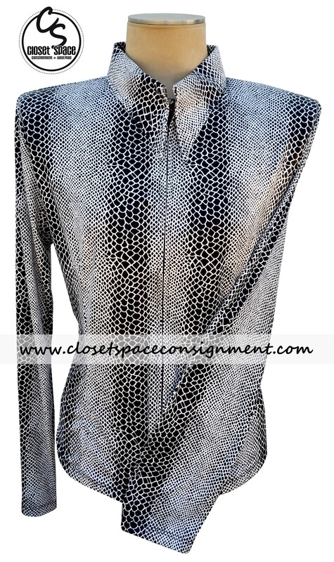 ​'Lisa Nelle' Black & White Snakeskin Shirt - NEW