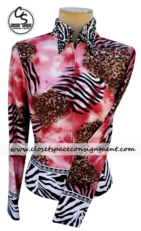 'Hobby Horse' Pink, Zebra & Leopard Shirt