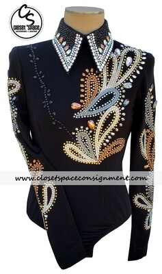 ​Black, Bronze & Silver Horsemanship Top
