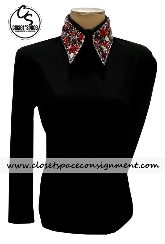 ​'Deb Moyer' Black & Red Top