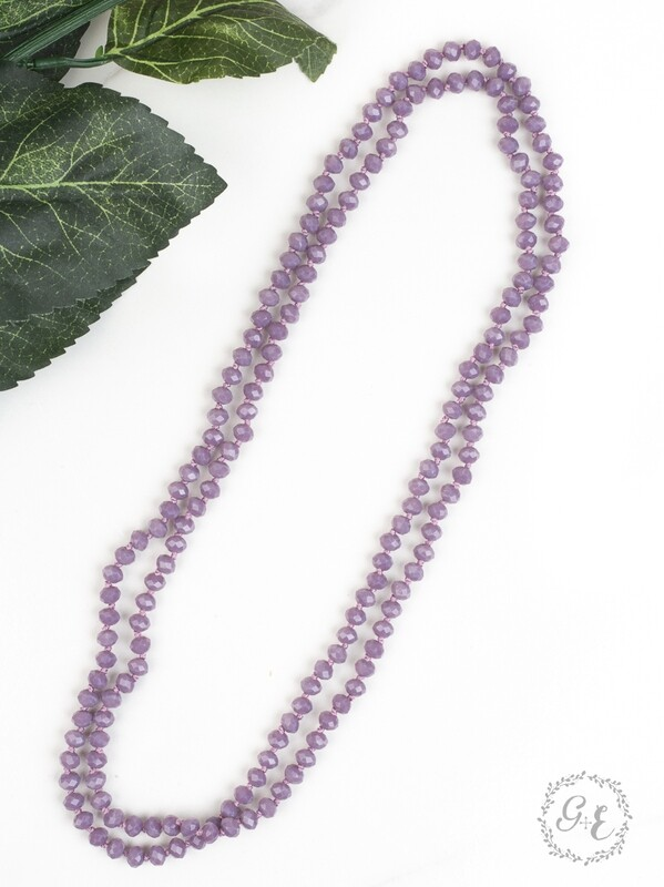 Iridescent Light Purple Beads