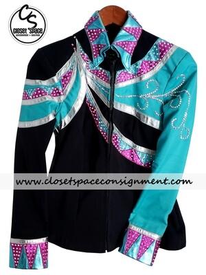 Black, Turquoise, Pink & Silver Jacket