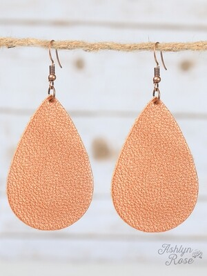 Autumn Squash Metallic Teardrop Earring