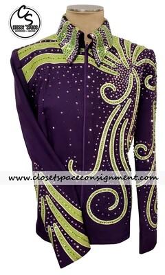 'Kelly's Custom Wear' Purple & Green Showmanship Set