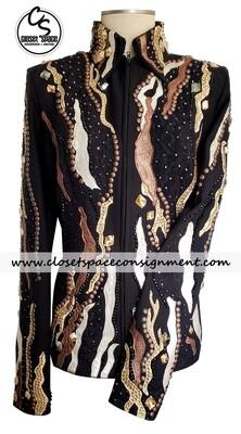 'Silver Lining' Black, Tan & Bronze Jacket