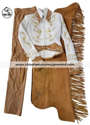 ​'Show Grace' White & Tan 4 PC Set