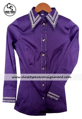​'Wicked Crystals by Christie' Purple All Day Shirt - NEW