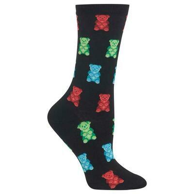 Women's Black Gummy Bear Socks